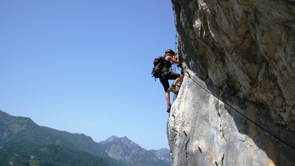 Ferrata Ewige Wand a ledovec Dachstein